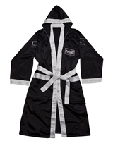 PUGILIST® Boxing Robe Black/ White (Adult)