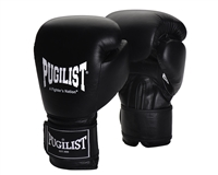 PUGILIST® Leather 'Black Series' Training / Sparring Gloves w/o Elastic Covering