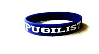PUGILIST® A Fighter's Nation Wristband Navy/White