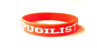 PUGILIST® A Fighter's Nation Wristband Fire Red/White