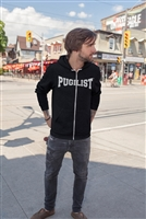 PUGILIST® Lightweight Zip-Up Hooded Jacket (BLACK)